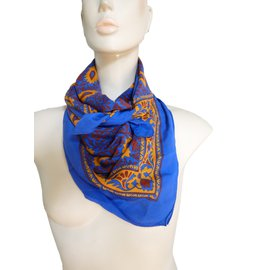 Yves Saint Laurent-Foulards-Bleu