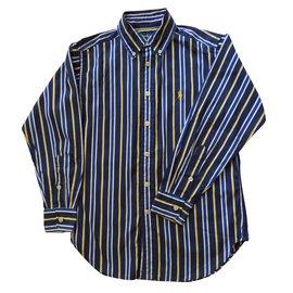 Ralph Lauren-Chemise manches longues-Bleu Marine