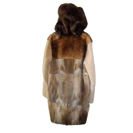 Maison Martin Margiela-Maison martin margiela men's hat fur coat new-Brown