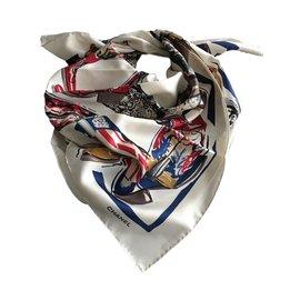 Chanel-Silk scarves-Cream
