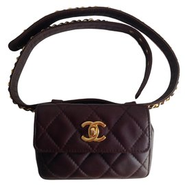 Chanel-Clutch bags-Brown