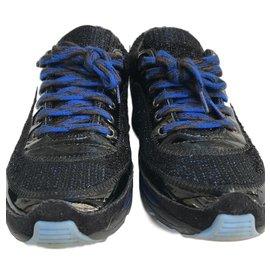Chanel-Sneakers-Marron,Noir,Bleu