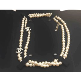 Chanel-Long necklace-Beige