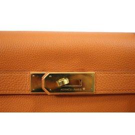 Hermès-Sac à main-Orange