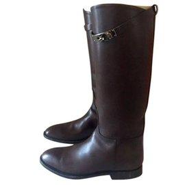 Hermès-Jumping boots-Marron