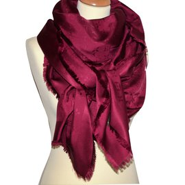Louis Vuitton-Foulard-Bordeaux