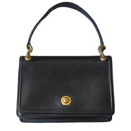 Hermès-Sac à main Clio-Noir