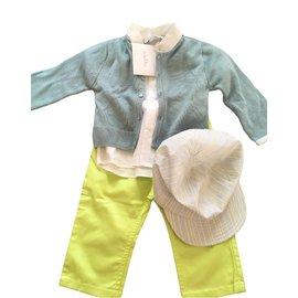 Baby Dior-Les ensembles garçon-Blanc,Vert,Gris