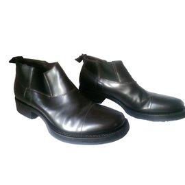 Prada-Boots-Dark brown