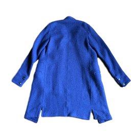 Chanel-Coat-Navy blue