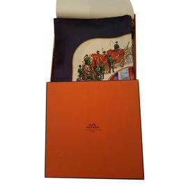 Hermès-Carrés-Multicolore,Prune