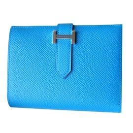 Hermès-Purse, wallet, case-Blue