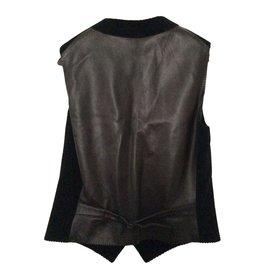 Hermès-Waistcoat-Brown,Black