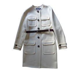 Burberry-Coats, Outerwear-Cream