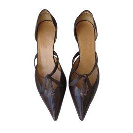 Hermès-Pumps-Dark brown