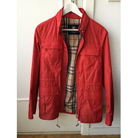 Burberry-Jackets-Red
