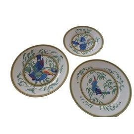 Hermès-HERMES  plate TOUCAN theme-Multiple colors
