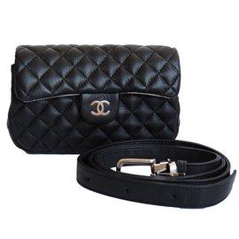 Chanel-Chanel clutch/beltbag uniform-Black