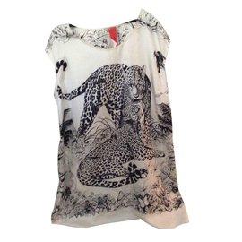 Hermès-Silk tunicTops-Beige