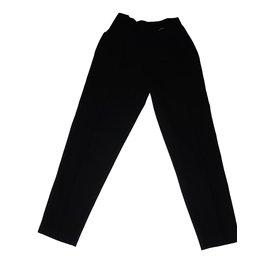 Gucci-Pantalon droit 100 % laine-Noir