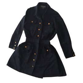 Chanel-Trench-Navy blue