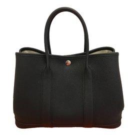 Hermès-Garden Party 30-Noir ... ab59f4e48b7