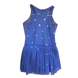 Stella Mc Cartney-robe tutu-Bleu,Bleu Marine