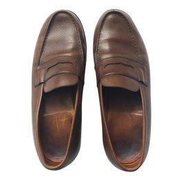 JM Weston-Loafers Slip ons 180-Brown