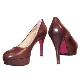 Luciano Padovan-Heels-Pink,Dark brown