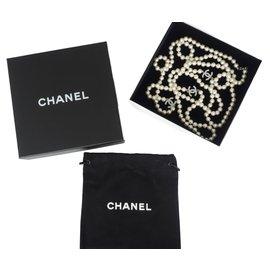 Chanel-SAUTOIR CHANEL BLANC-Blanc