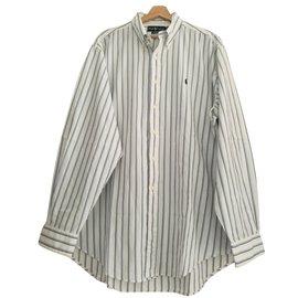 Ralph Lauren-Chemise rayée Ralph Lauren-Blanc