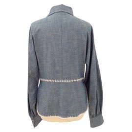 Chloé-Blouse shirt-Blue