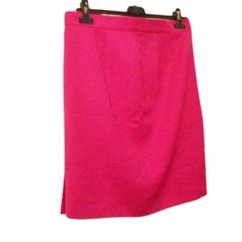 Yves Saint Laurent-jupe droite-Rose