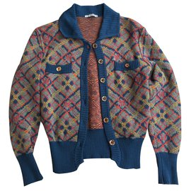 Yves Saint Laurent-Pulls, Gilets-Multicolore