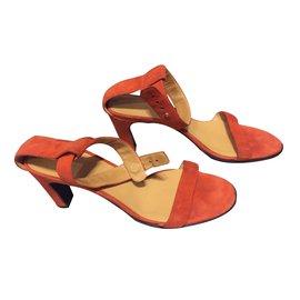 Hermès-Sandales-Orange