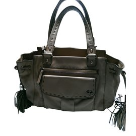 Lancel-Handbags-Caramel