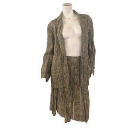 Chanel-Tailleur jupe-Doré
