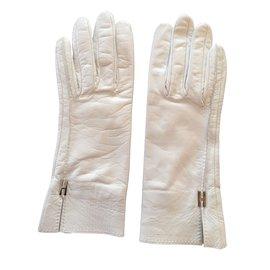 Hermès-GANTS  BAYA-Blanc