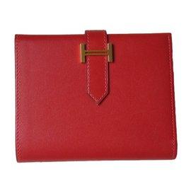 Hermès-Wallets-Red