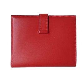 Hermès-Portefeuilles-Rouge
