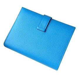 Hermès-Portefeuilles-Bleu