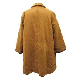 Leonard-Leonard Synthetic Leather Coat-Brown,Dark brown