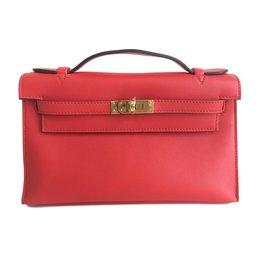 Hermès-Pochette Kelly Mini-Rouge ... 535b3744697