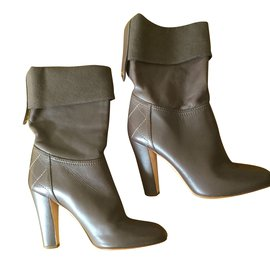Chanel-Ankle Boots-Hazelnut