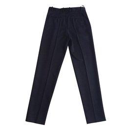 Céline-Pants, leggings-Navy blue
