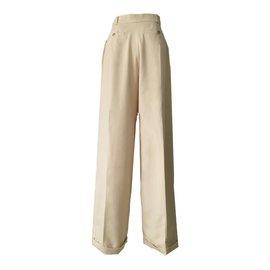 Chanel-CHANEL Pantalon-Beige