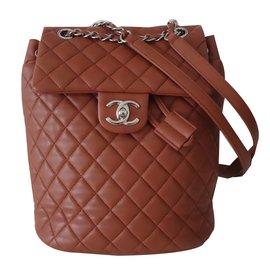 Chanel-Backpacks-Caramel