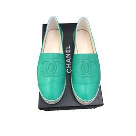 Chanel-Espadrilles-Green