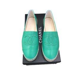 Chanel-Espadrilles-Vert