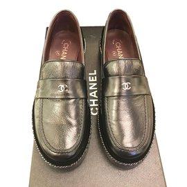 Chanel-Mocassins-Noir